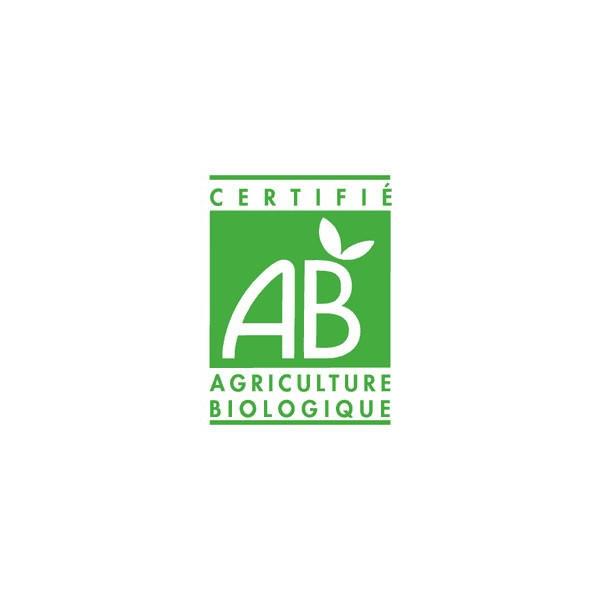 Logo AB pour l'huile essentielle dePetit grain bigarade - Feuilles - 10ml - Huile essentielle Laboratoire Gravier