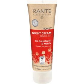 Crème de nuit Grenade bio et Marula - toutes peaux - 75 ml - Sante Family