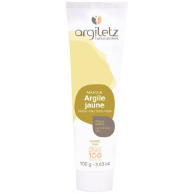 Masque argile jaune - Peaux mixtes - 100g - Argiletz