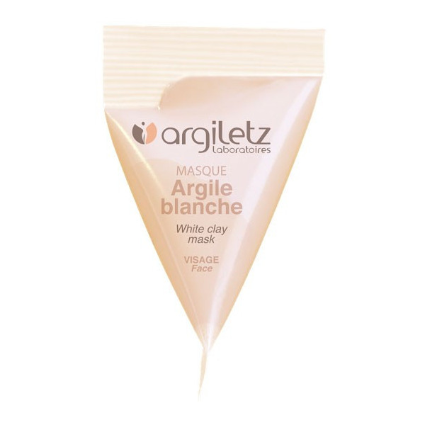 Berlingot masque argile blanche – 15ml – Argiletz