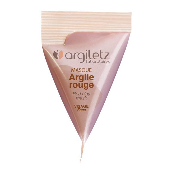 Berlingot masque argile rouge – 15ml – Argiletz