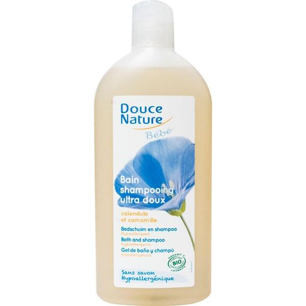 Bain shampooing bébé Calendula et Camomille bio – 300ml – Douce Nature