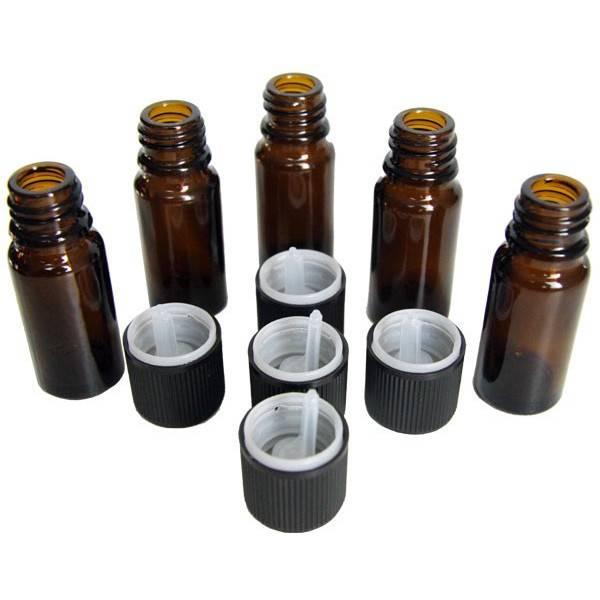 Lot de 5 unités - Flacons 10 ml + bouchons sécurité - Vue 2