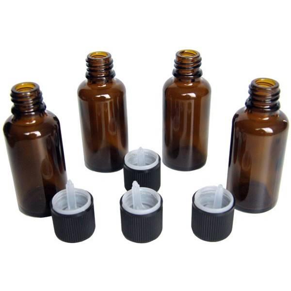 Lot de 4 unités - Flacons 30 ml + bouchons sécurité - Vue 2