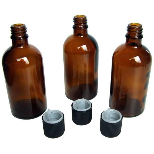 Lot de 3 unités - Flacons 100 ml + bouchons sécurité - Vue 2