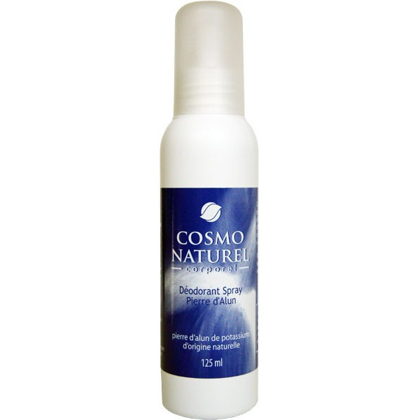 Déodorant spray Pierre d'Alun origine naturelle – 125ml – Cosmo Naturel