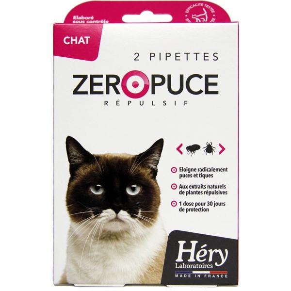 Pipettes Zéro Puce Répulsives - Chat - Pipettes 2 ml - Héry - Vue 2