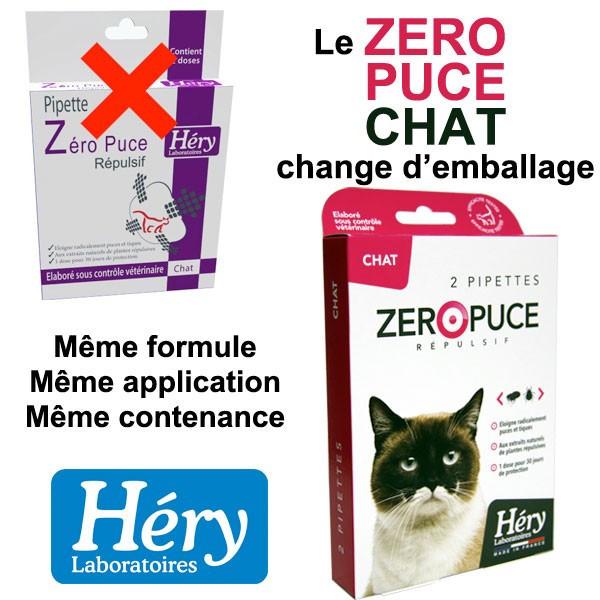 Changement d'emballage pour les pipettes Zéro Puce Chat - Héry