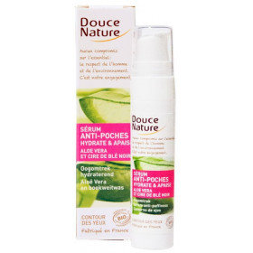Sérum anti-poches hydratant BIO aloe vera & cire de blé noir – 15ml – Douce Nature