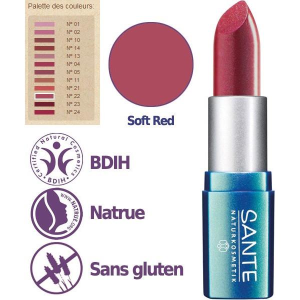 Détail pour le rouge à lèvres n°22 Soft Red - 4,5g - Sante - Vue 2