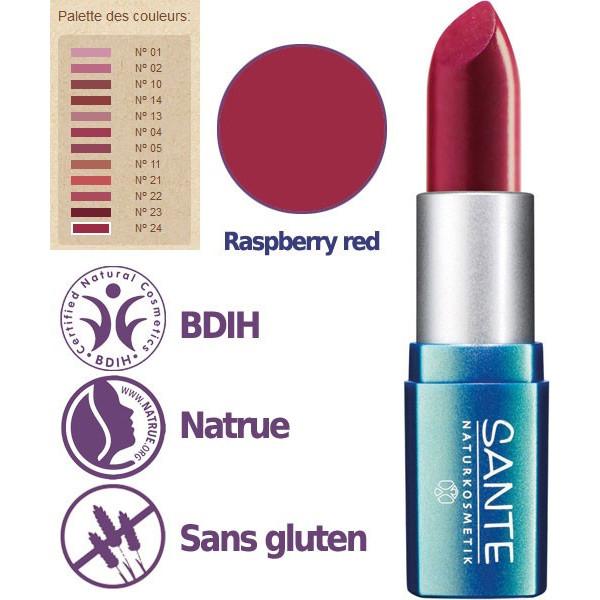 Détail pour le rouge à lèvres n°24 Raspberry Red - 4,5g - Sante - Vue 2