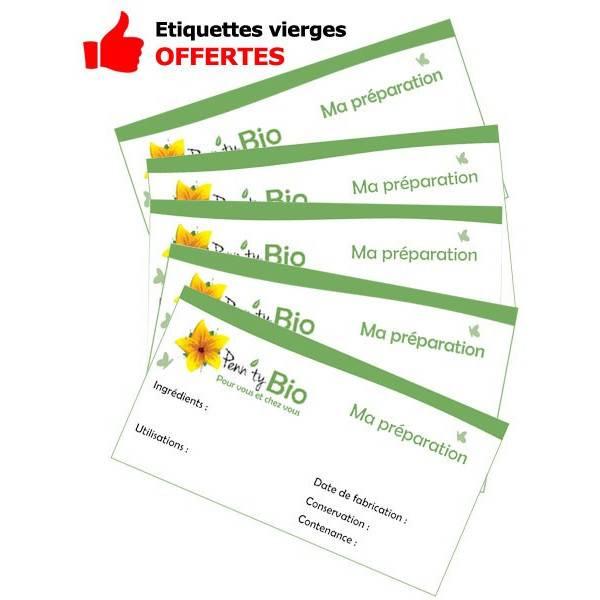 Etiquettes offertes pour le lot de 5 unités - Flacons 10 ml + bouchons sécurité
