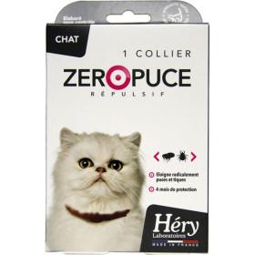 Collier répulsif ZéroPuce pour chat - Laboratoire Héry