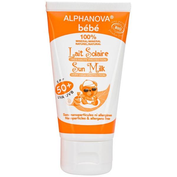 Lait protection solaire bébé SPF 50+ bio - 50 ml - Alphanova bébé - Vue 2