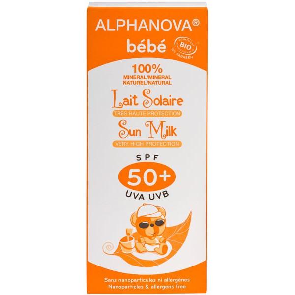 Lait protection solaire bébé SPF 50+ bio - 50 ml - Alphanova bébé