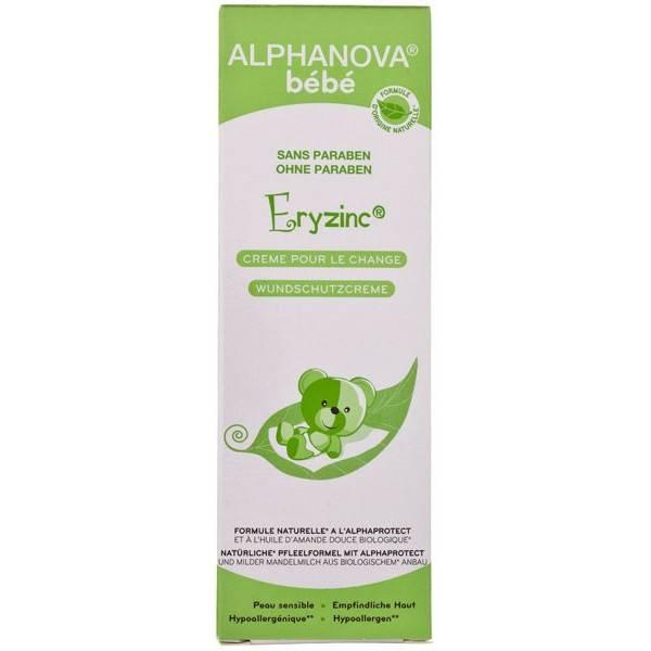 Crème bébé pour le change Eryzinc amande douce bio – 75ml – Alphanova