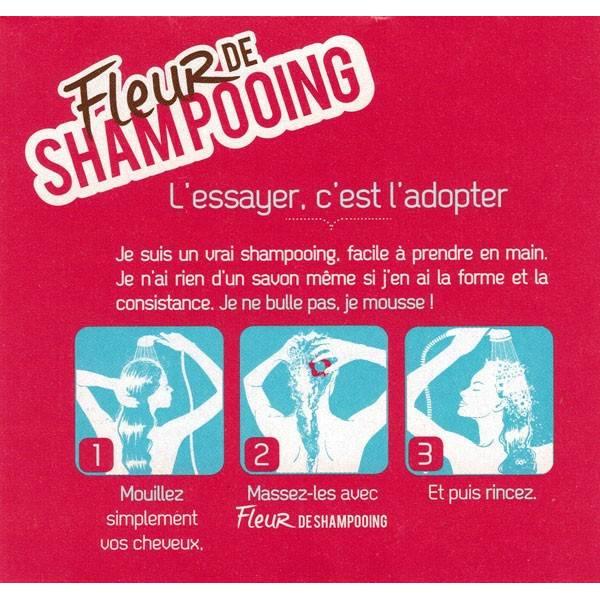 Détails Fleur de Shampooing solide cheveux normaux – 85gr – Douce Nature - Vue 2