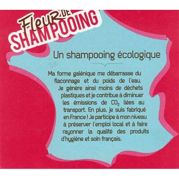 Détails Fleur de Shampooing solide cheveux secs – 85gr – Douce Nature - Vue 1