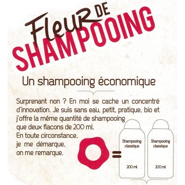 Détails Fleur de Shampooing solide cheveux gras – 85gr – Douce Nature