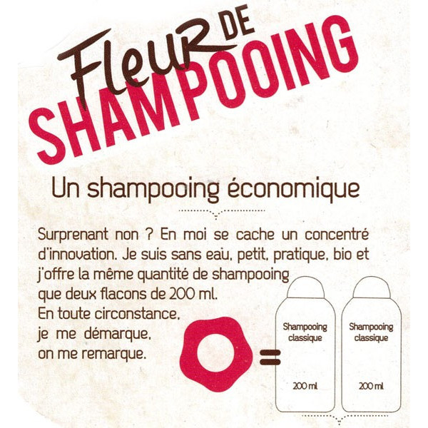 Détails Fleur de Shampooing solide anti-pelliculaire – 85gr – Douce Nature