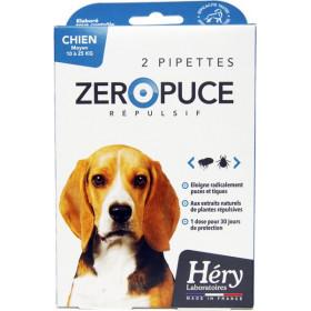 Pipettes Zéro Puce Répulsives – Moyen Chien – Pipettes 5ml – Héry