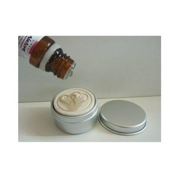 Galet en argile blanche pour diffusion d'huiles essentielles - Vue 4