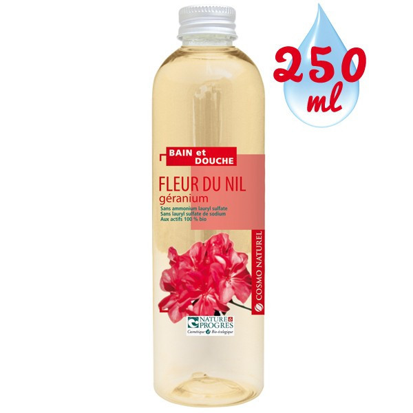 Gel bain & douche Fleur du Nil Géranium - 250ml – Cosmo Naturel