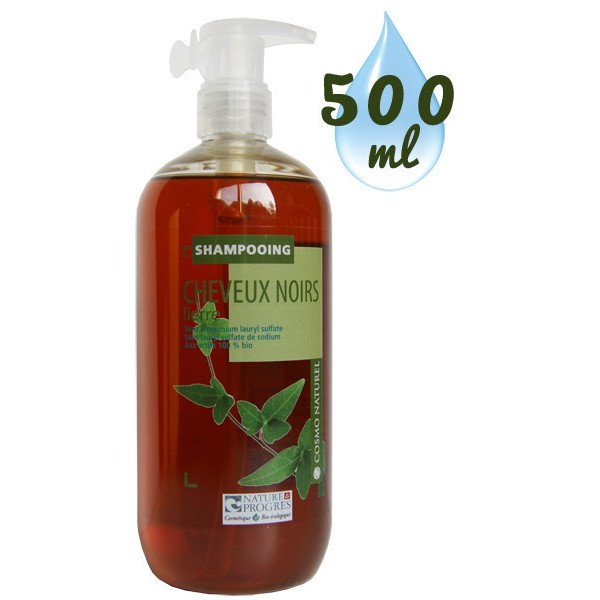 Shampooing Cheveux Noirs Lierre – 500ml – Cosmo Naturel