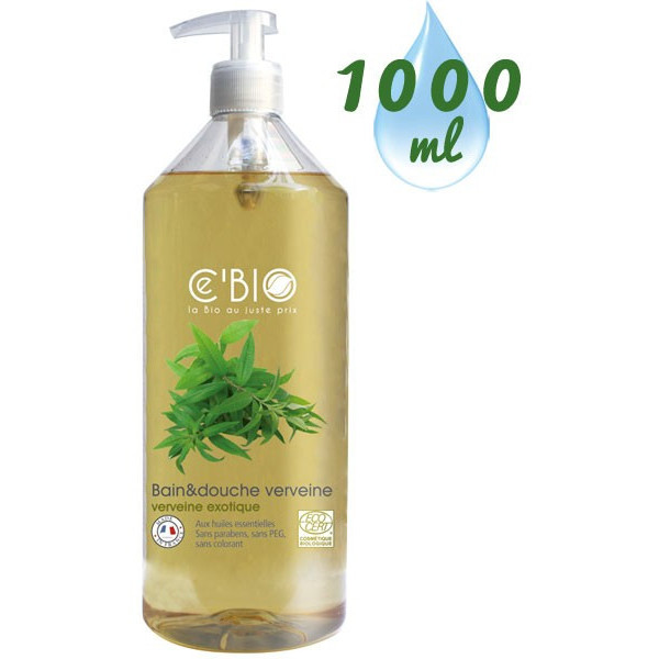Gel bain & douche Verveine exotique – 1000ml – Ce'Bio