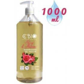 Shampooing douche Rose d'Antan – 1000 ml – Ce'Bio