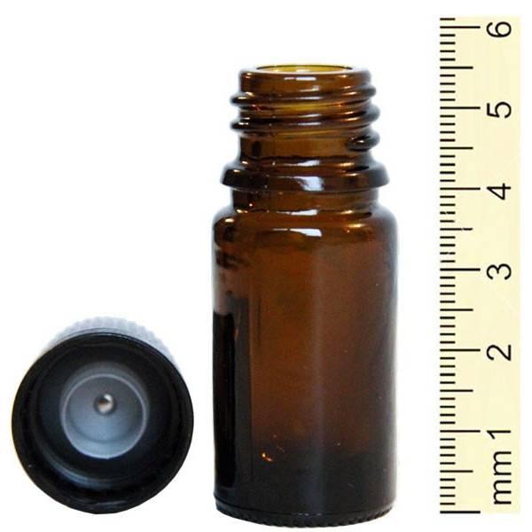 Flacon roll-on 5 ml en verre jaune et bille acier - Penntybio - Vue 4