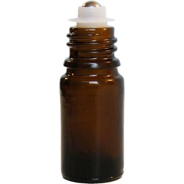 Flacon roll-on 5 ml en verre jaune et bille acier - Penntybio - Vue 3