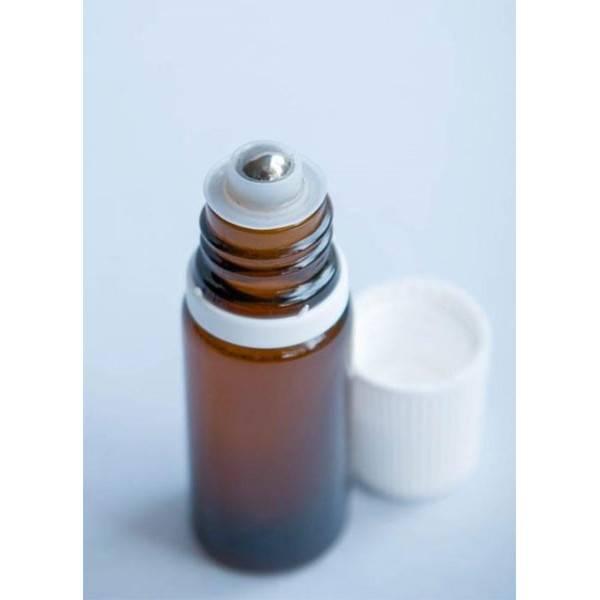 Flacon roll-on 5 ml en verre jaune et bille acier - Penntybio - Vue 2