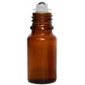 Flacon roll-on 10 ml en verre jaune et bille acier - Penntybio - Vue 1