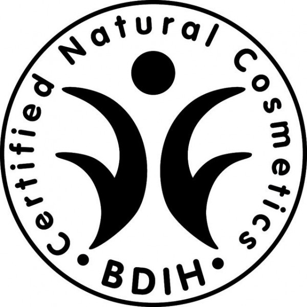 Logo BDIH pour la coloration naturelle aux plantes Henné Amla & Jastropha cuivré - 100g - Khadi