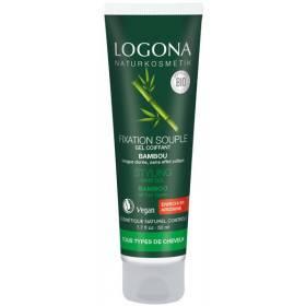 Gel coiffant Bambou fixation souple – 50ml – Logona