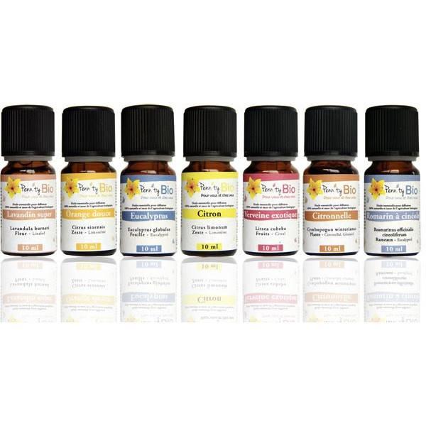 Pack Essentielle - 7 huiles essentielles bio 10 ml