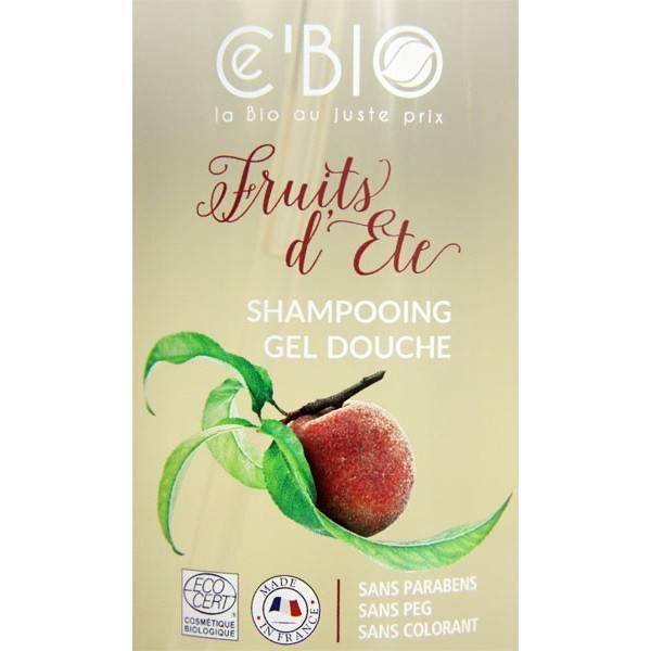Zoom sur le shampooing douche Fruits d'été – 1000 ml – Ce'Bio