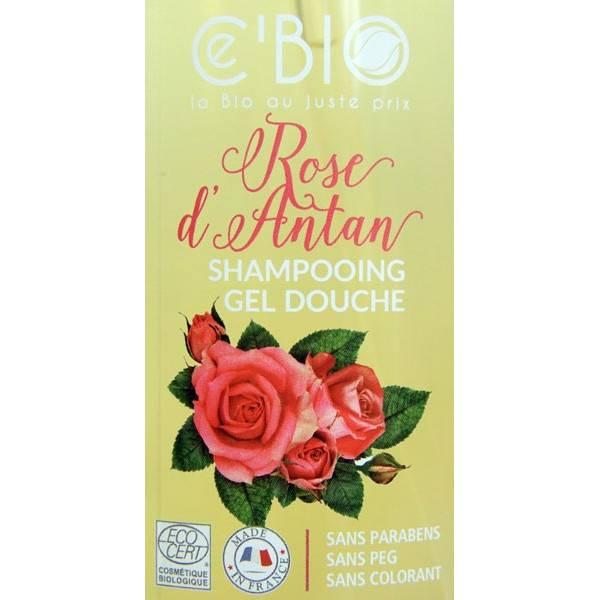 Zoom sur le shampooing douche Rose d'Antan – 1000 ml – Ce'Bio