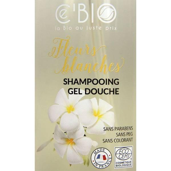 Zoom sur le shampooing douche Fleurs Blanches – 1000 ml – Ce'Bio