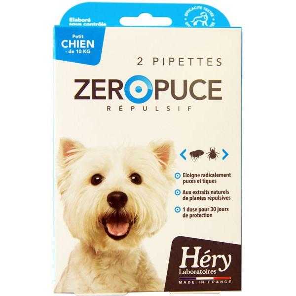 Pipettes Zéro Puce Répulsives – Petit chien - Pipettes 2,5 ml – Héry