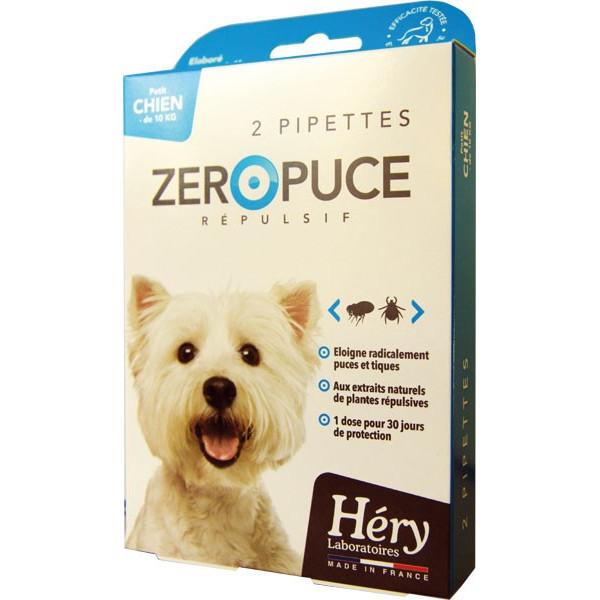 Pipettes Zéro Puce Répulsives – Petit chien - Pipettes 2,5 ml – Héry - Vue 3