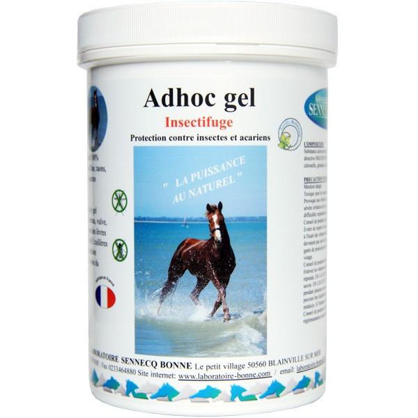 Nouvel emballage pour l'insectifuge gel longue durée pour chevaux, poneys et autres animaux – 600gr – Adhoc