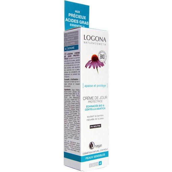 Crème de jour Echinacée bio et Centella asiatica - peaux sensibles - 30 ml - Logona - Vue 2
