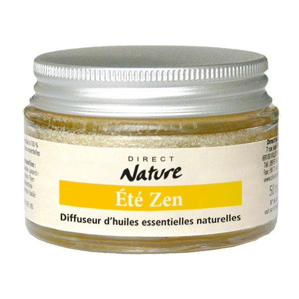 Diffuseur éponge d'huiles essentielles Été Zen 45 ml - Direct Nature