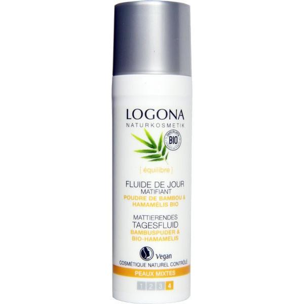 Fluide de jour matifiant poudre de bambou et Hamamélis bio - peaux mixtes - 30 ml - Logona - Vue 1