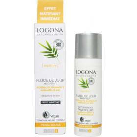 Fluide de jour matifiant poudre de bambou et Hamamélis bio - peaux mixtes - 30 ml - Logona - Vue 2