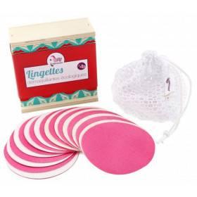 Lingettes démaquillantes, lavables et réutilisables - Coffret de 10 - Lamazuna