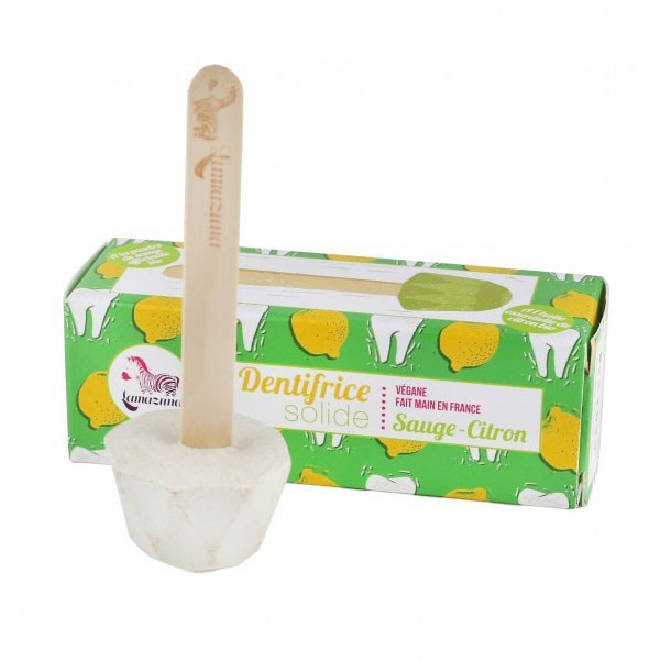 Dentifrice solide à la sauge et au citron - 17 gr - Lamazuna - Vue 1
