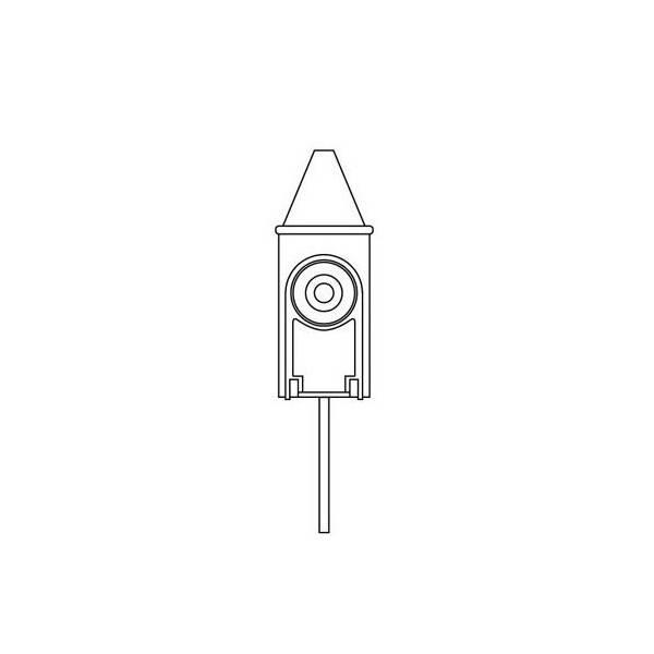 Buse nébulisatrice + flacon en verre pour diffuseur Neolia - Dessin technique